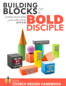This Sunday – Building Blocks of a Bold Disciple, Evangelism and Missions