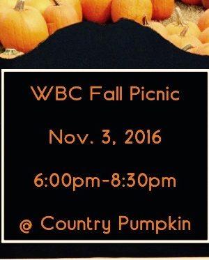 WBC Fall Picnic 2016